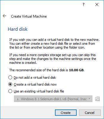 VM Hard disk