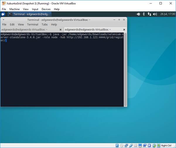 Set up a Linux Virtual Machine in Virtual Box for running Selenium Grid