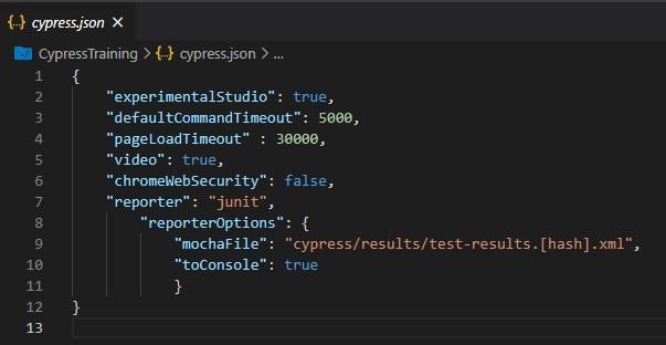 cypress json file